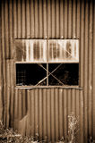 Old rusty metal tin shed Royalty Free Stock Photography