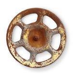 Old rusty metal valve on white background Stock Photos