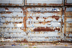 Old rusty metal wall Stock Photography