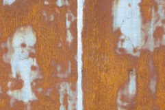 Old rusty metal wall Stock Images