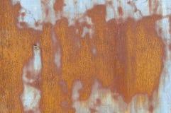 Old rusty metal wall Stock Photo
