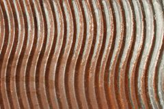 Old rusty metal washboard Royalty Free Stock Photos