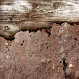 Old rusty metal and wood Stock Images