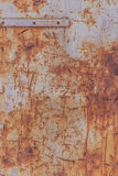 Old rusty metallic background on the street in winter Royalty Free Stock Photo