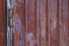 Old rusty metallic background on the street in winter Royalty Free Stock Image