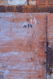 Old rusty metallic background on the street in winter. Old rusty metallic background on the street Royalty Free Stock Photography