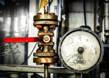 Old rusty meter Stock Photos