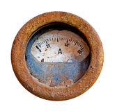 Old rusty meter on white background Stock Photography
