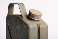 Old and rusty military gasoline canister Stock Image