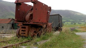 Old rusty mining equipment stock footage
