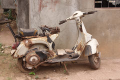 The old, rusty motorcycle Stock Image