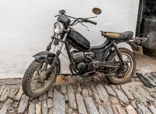The old, rusty motorcycle Royalty Free Stock Photos