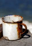 Old rusty mug Royalty Free Stock Photography