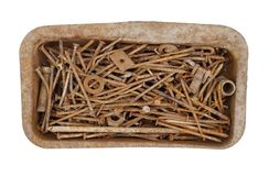 Old rusty nails. Detail of the old rusty nails Royalty Free Stock Photos