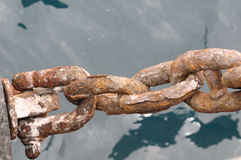 An Old Rusty Naval Chain Stock Photography