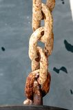 An Old Rusty Naval Chain Stock Photo