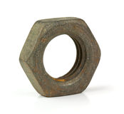 Old rusty nut Royalty Free Stock Photography