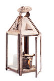 Old rusty oil lamp isolated Royalty Free Stock Image