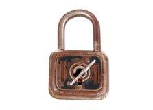 Old rusty padlock. Isolated on white background Royalty Free Stock Photo