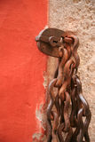 Old rusty padlock and chain Royalty Free Stock Photography