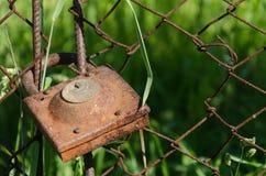 Old rusty padlock Stock Image