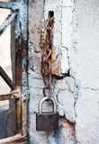 Old rusty padlock Stock Images