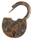 Old rusty padlock Royalty Free Stock Photos