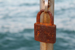 Old rusty padlock Stock Photography