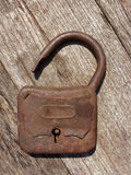 Old rusty padlock Stock Photo