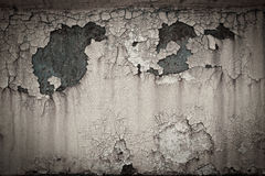 Old rusty paint crack metal plate texture background Stock Photography