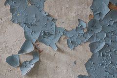 Old rusty paint on the wall in the historic military building in Latvia Royalty Free Stock Photography