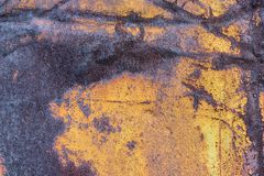 Old rusty painted metal background texture plate. stock images