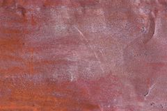Old rusty painted metal background texture plate. stock photos