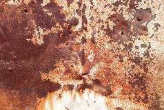 Old rusty painted metal wall Royalty Free Stock Photo