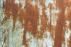 Old rusty painted surface. Old rusty surface with cracked blue paint Stock Photography