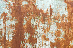 Old rusty painted surface. Old rusty surface with cracked blue paint Stock Photos