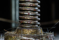 Old rusty part of plant equipment Royalty Free Stock Images