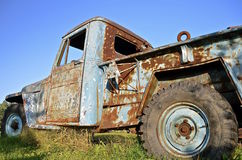 Old rusty pickup full of patina Stock Image