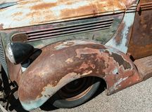 Old rusty pickup truck. Low rider, classic old pickup truck Stock Image
