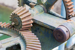 Old and rusty pinion gear of a machine Stock Photography