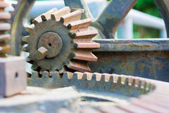 Old and rusty pinion gear of a machine Royalty Free Stock Photos