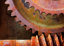 Old and rusty pinion gear of a mechanical machine Royalty Free Stock Photos