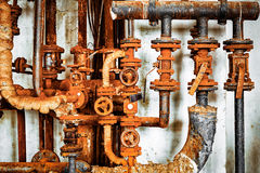 Old rusty pipeline closeup Royalty Free Stock Photo
