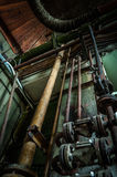 Old rusty pipes angle shot Royalty Free Stock Photos