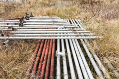 Old rusty pipes and tanks Royalty Free Stock Photos