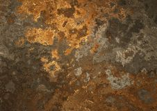 Old rusty plate Stock Photography