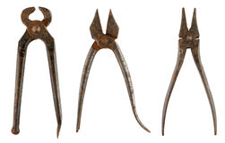 Old rusty pliers Royalty Free Stock Photos