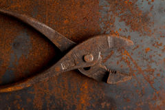 Old rusty pliers tools Stock Photo