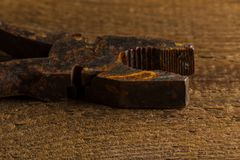 Old rusty pliers tools Stock Images