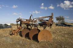 Old and rusty plow. Royalty Free Stock Image